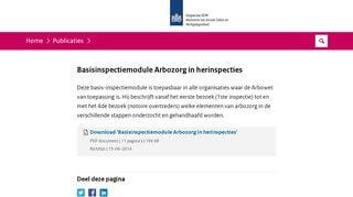 BIM Arbozorg in herinspecties