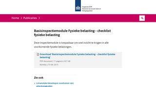 BIM Fydieke belasting - checklist fysieke belasting