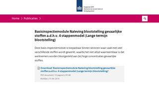 BIM Naleving blootstelling gevaarlijke stoffen a.d.h.v. 4 stappenmodel (Lange termijn blootstelling)