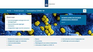 Coronavirus COVID-19 | Rijksoverheid.nl