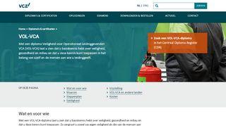 VOL VCA info