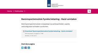 BIM Fysieke belasting - Hand - armtaken