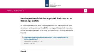 BIM Arbozorg - RI&E, Basiscontract en Deskundige Bijstand