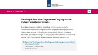 BIM Ongewenste Omgangsvormen inclusief arbeidsdiscriminatie