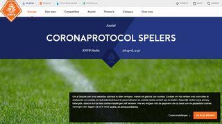 Corona protocol voetbalspelers