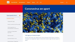 Corona checklist voor sportverenigingen